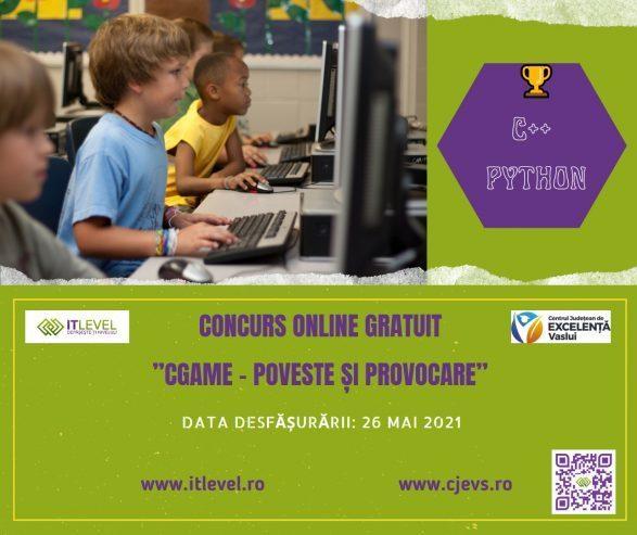 "Concurs online ""CGame – poveste si provocare"""